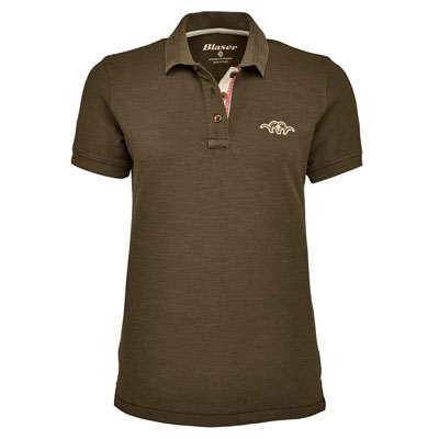 Blaser Ladies Polo Shirt - Mud
