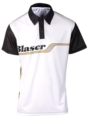 Black and Gold Sport Stripe Shooter Shirt