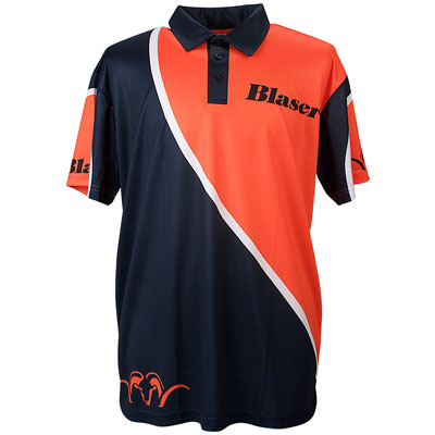 Blaser Argali Orange & Blue Polo - Mens